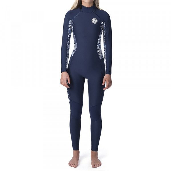RIP CURL WETSUIT DAWN PATROL 43 GB BACK ZIP W DARK BLUE S20