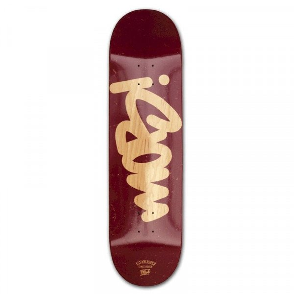 MOB TAG LOGO BURGUNDY 8.5 DECK