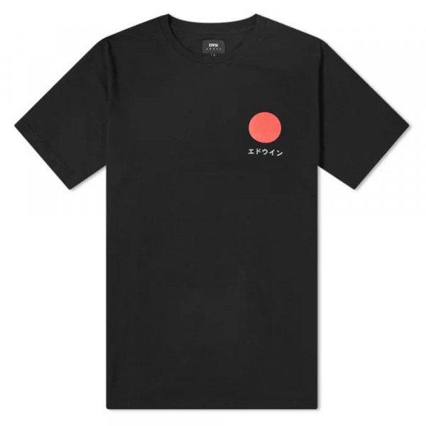 EDWIN T-SHIRT JAPANESE SUN TS BLACK S20