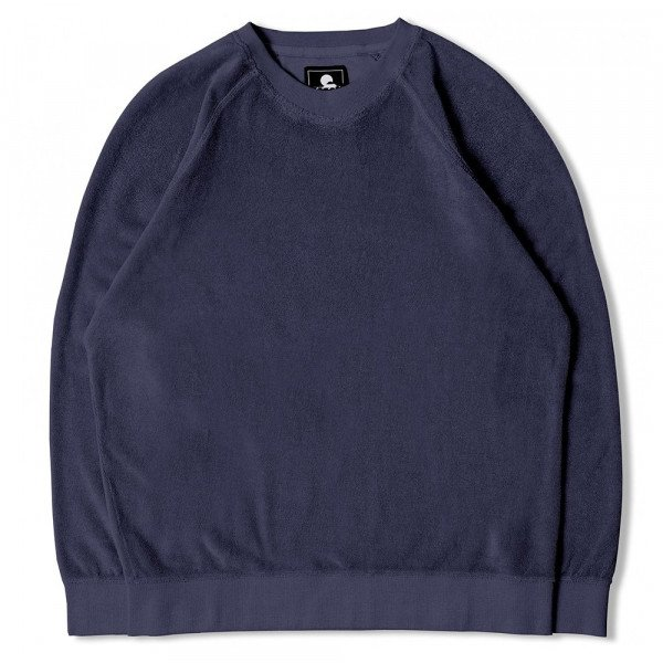 EDWIN HOOD VAN CREW SWEAT NAVY S20