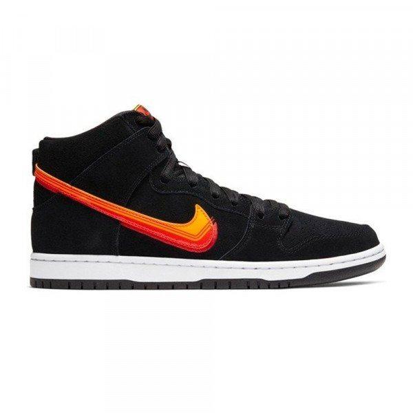 NIKE SHOES SB DUNK HIGH PRO BLACK TEAM ORANGE S20