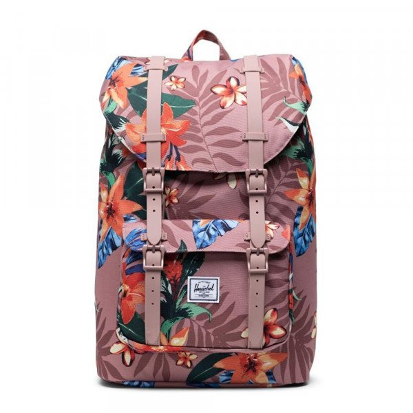 HERSCHEL SOMA LITTLE AMERICA MID VOLUME SUMMER FLORAL ASH ROSE