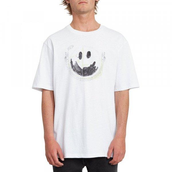 VOLCOM T-SHIRT FAKE SMILE BXY SS WHT S20