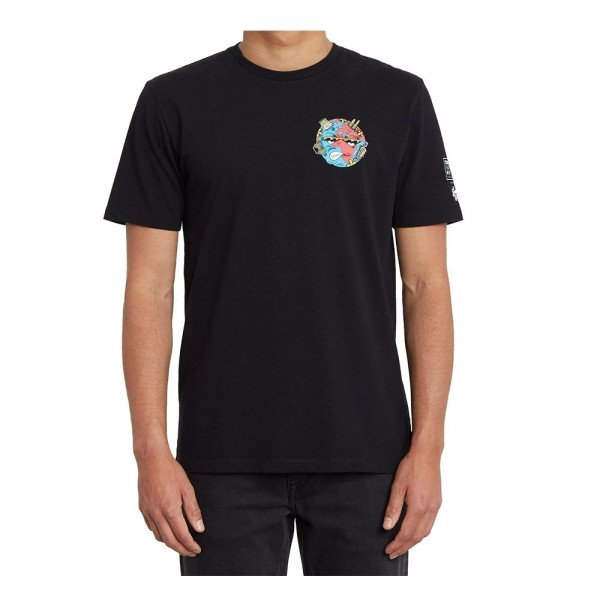 VOLCOM T-SHIRT FREAKS CITY FA SS BLK S20