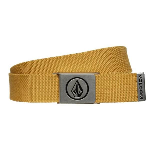 VOLCOM BELT CIRCLE WEB GLD S20