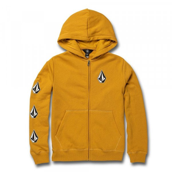VOLCOM ZIP-HOOD DEADLY STONES ZIP KIDS GLD S20