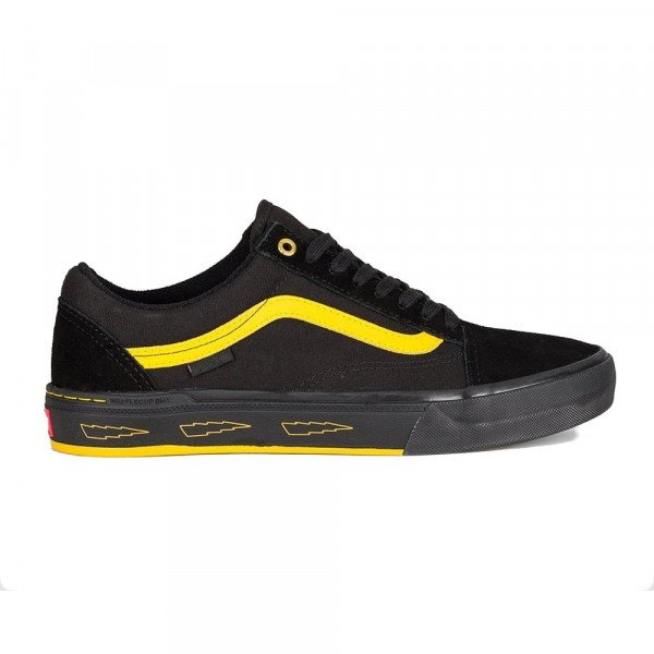 VANS SHOES OLD SKOOL PRO BMX (LARRY EDGAR) BLACK YELLOW S20