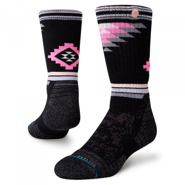 STANCE ZEĶES ADVENTURE RUBY VALLEY CREW BLACK