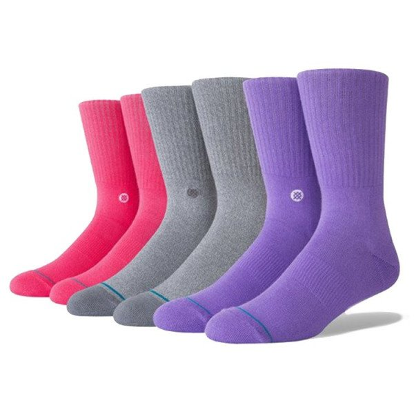 STANCE ZEĶES UNCOMMON SOLIDS ICON 3 PACK LIMITED EDITION MULTI