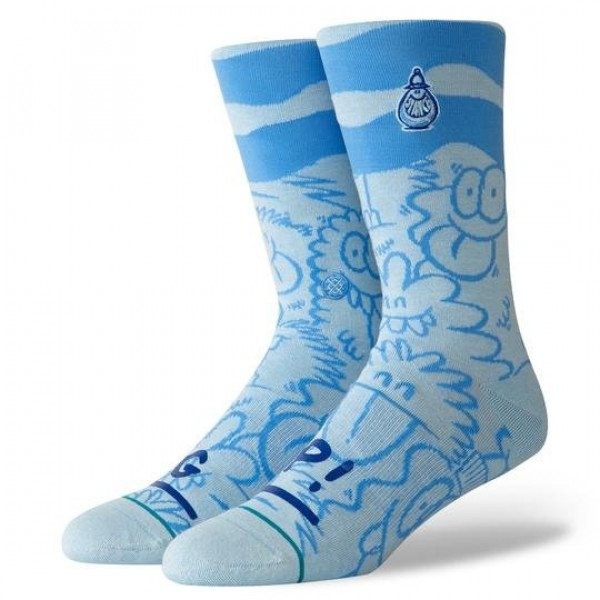 STANCE ZEĶES BLUE FOUNDATION KEVIN LYONS WAVE BLUE