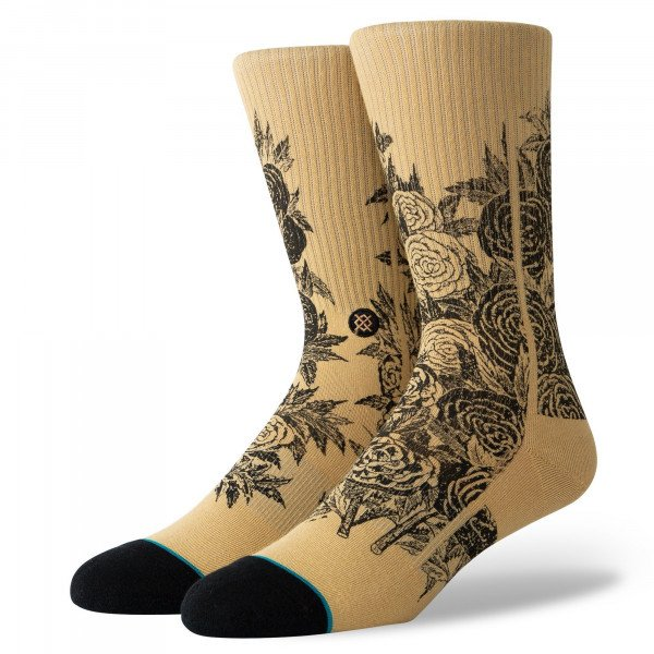 STANCE SOCKS BLUE FOUNDATION THORN TAN