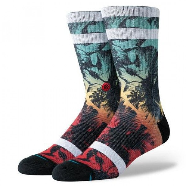 STANCE SOCKS HAWAII HIBISCUS BURN GREEN