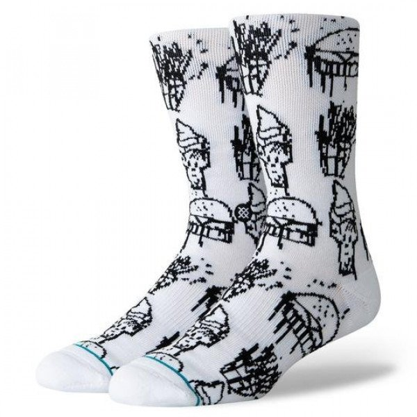 STANCE SOCKS BLUE FOUNDATION DELIGHT WHITE
