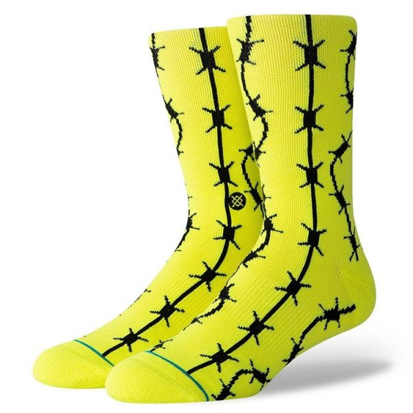 STANCE SOCKS SURFSKATE KEEP OUT NEON YELLOW