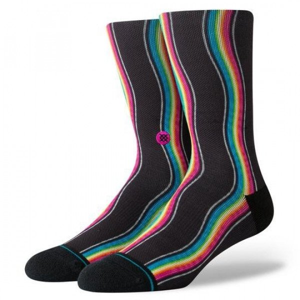 STANCE SOCKS BLUE FOUNDATION RAINBOW WAVES MULTI