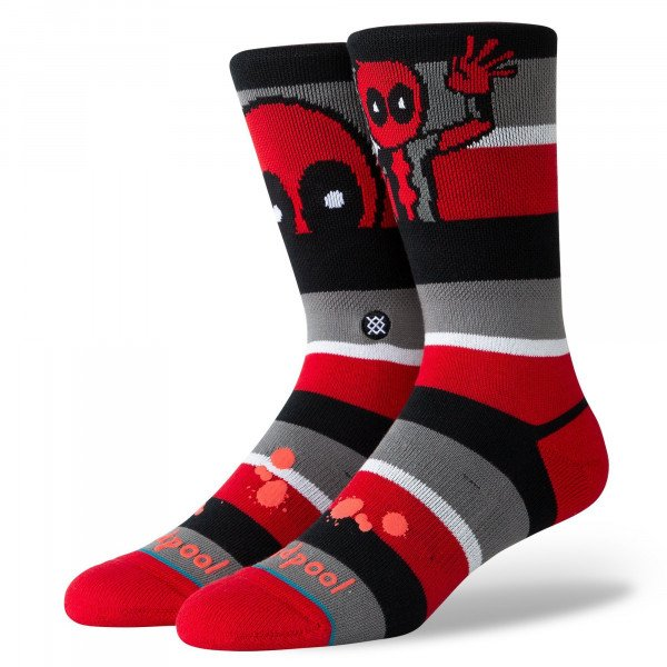 STANCE SOCKS DISNEY DEADPOOL STRIPE RED