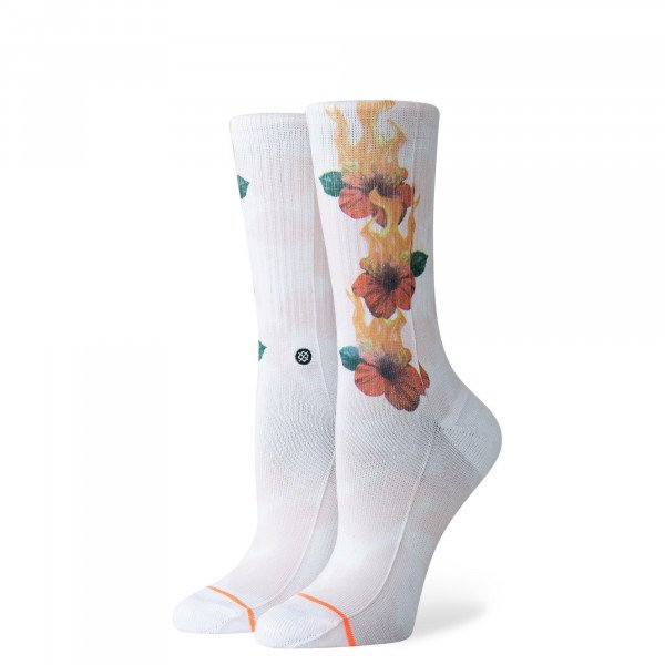STANCE ZEĶES FOUNDATION WOMEN LET IT BURN WHITE