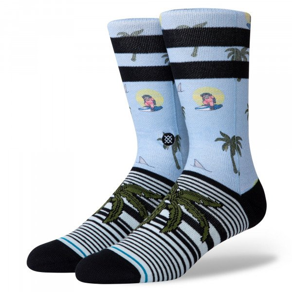 STANCE SOCKS ALOHA MONKEY ST LIGHT BLUE
