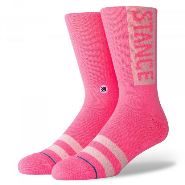 STANCE ZEĶES UNCOMMON SOLIDS OG SATURATED PINK