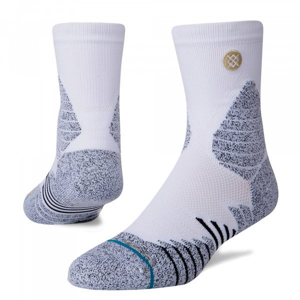 STANCE SOCKS BASKETBALL ICON HOOPS QTR WHITE