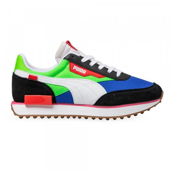 PUMA SHOES FUTURE RIDER PLAY ON BLACK GREEN BLUE S20