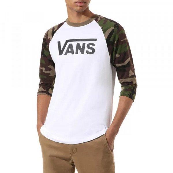 VANS T-SHIRT CLASSIC RAGLAN WHITE CAMO S20