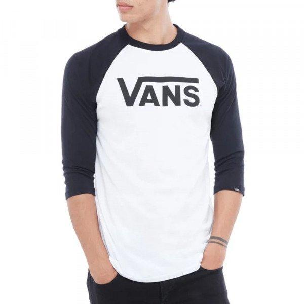 VANS T-SHIRT CLASSIC RAGLAN WHITE BLACK S20