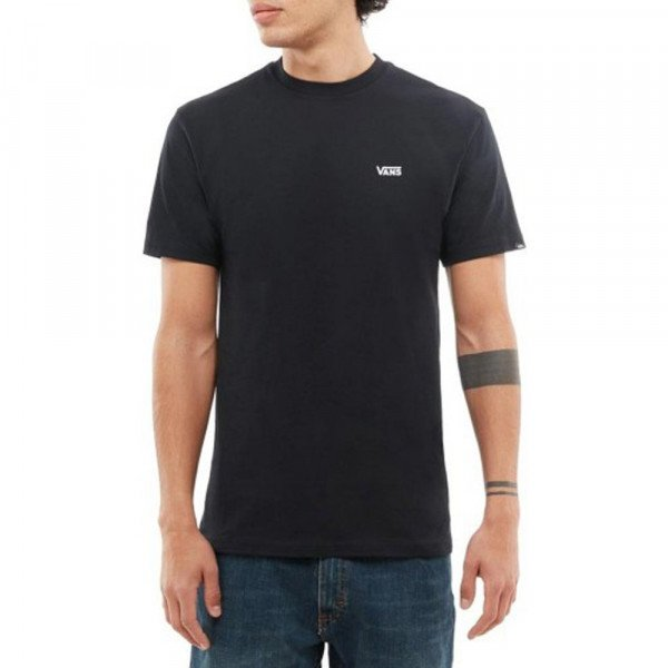 VANS T-SHIRT LEFT CHEST LOGO TEE BLACK WHITE S20