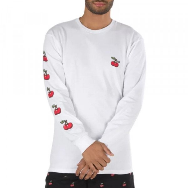 VANS LONGSLEEVE CHERRIES LS WHITE S20