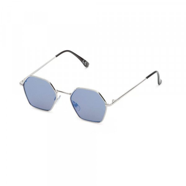 VANS BRILLES RIGHT ANGLE SILVER BLUE MIRROR LENS