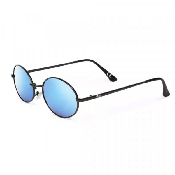 VANS SUNGLASSES AS IF SUNGLASSES MATTE BLACK BLUE MIRROR