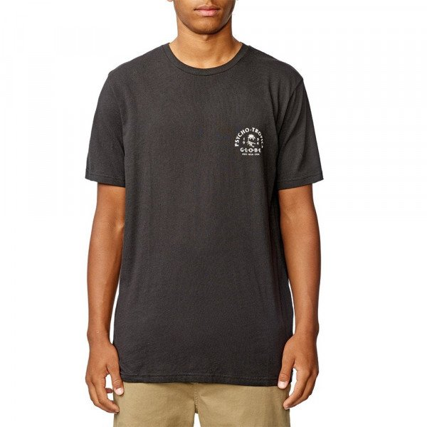 GLOBE T-SHIRT ARCH TEE WASHED BLACK S20