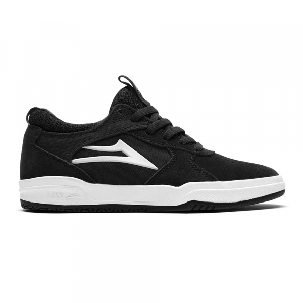 LAKAI SHOES PROTO KIDS BLACK WHITE SUEDE