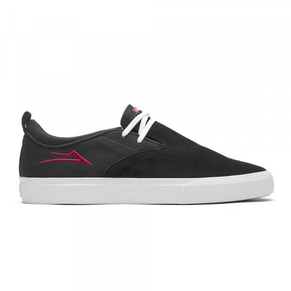 LAKAI SHOES RILEY 2 BLACK RED SUEDE S20
