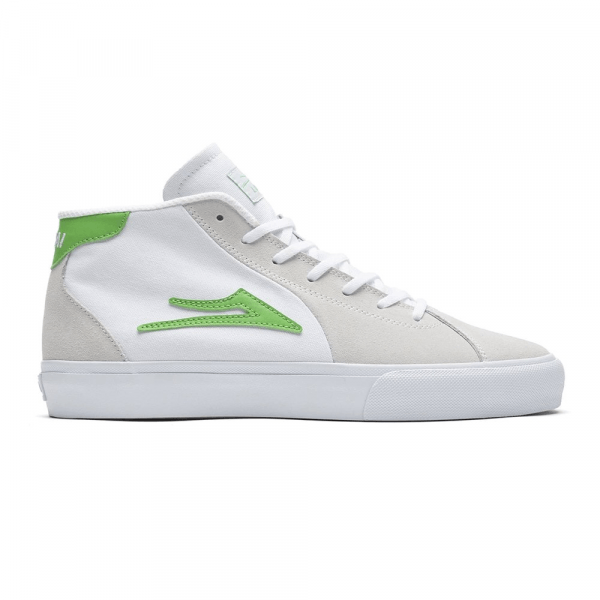 LAKAI SHOES FLACO II MID WHITE SUEDE S20