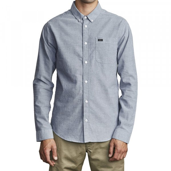 RVCA KREKLS THATLL DO STRETCH LS DISTANT BLUE S20