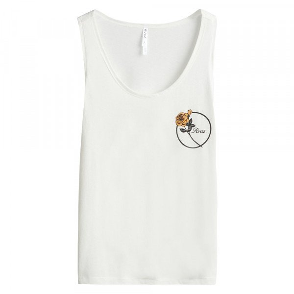 RVCA TOPS THORNS TANK ANTIQUE WHITE S20