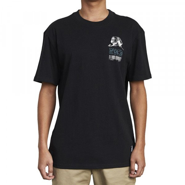 RVCA T-SHIRT LOST SOULS SS BLACK S20