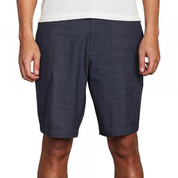 RVCA SHORTS BACK IN HYBRID DENIM HEATHER S20