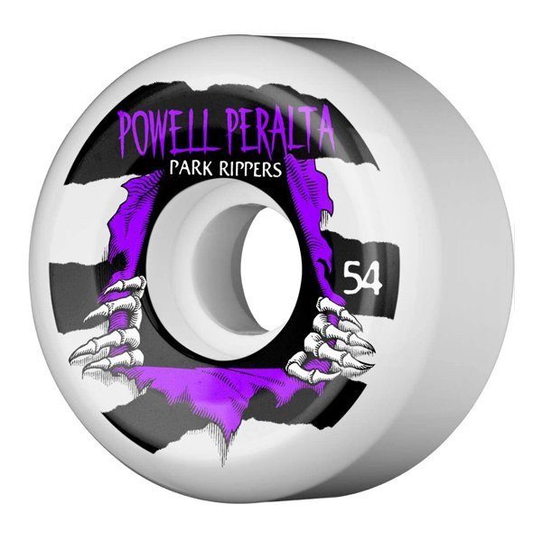 POWELL PERALTA RITENĪŠI PARK RIPPER 2 54 MM 103A WHITE
