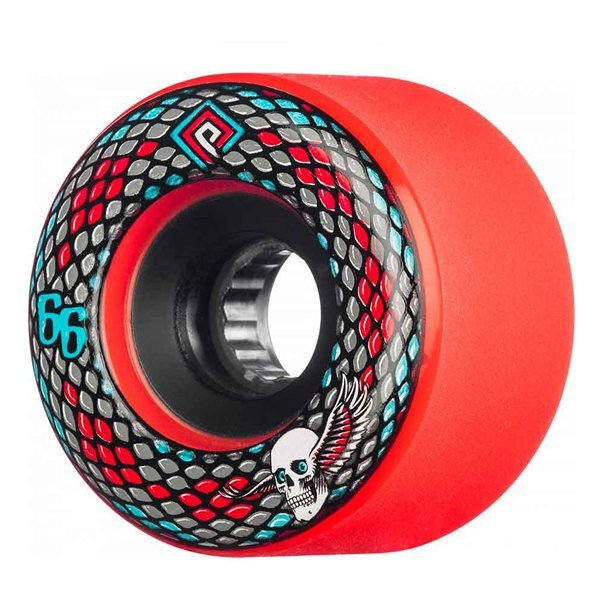 POWELL PERALTA WHEELS SNAKES 66 MM 75A RED