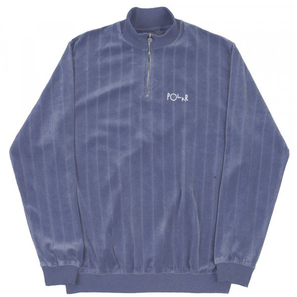 POLAR HOOD VELOUR ZIP NECK SWEATSHIRT FADED VIOLET S20