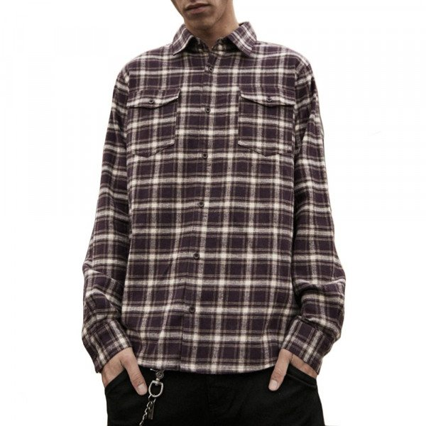 AFENDS KREKLS XF FALCON MULBERRY CHECK