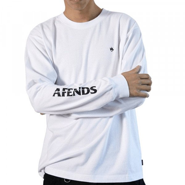 AFENDS LONGSLEEVE GOING NOWHERE WHITE S20