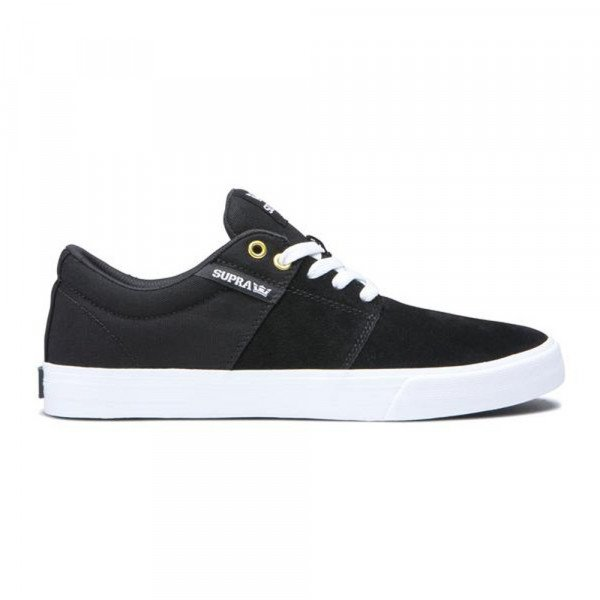 SUPRA SHOES STACKS II VULC KIDS BLACK WHITE WHITE