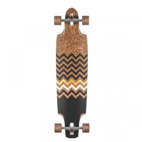 GLOBE LONGBOARD SPEARPOINT CORK ZAGGED 40