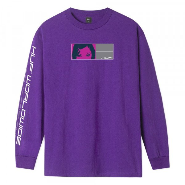 HUF LONGSLEEVE WONDERLAND GRAPE