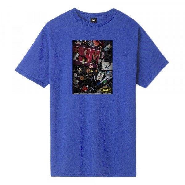 HUF T-SHIRT PURVEYERS OLYMPIAN BLUE