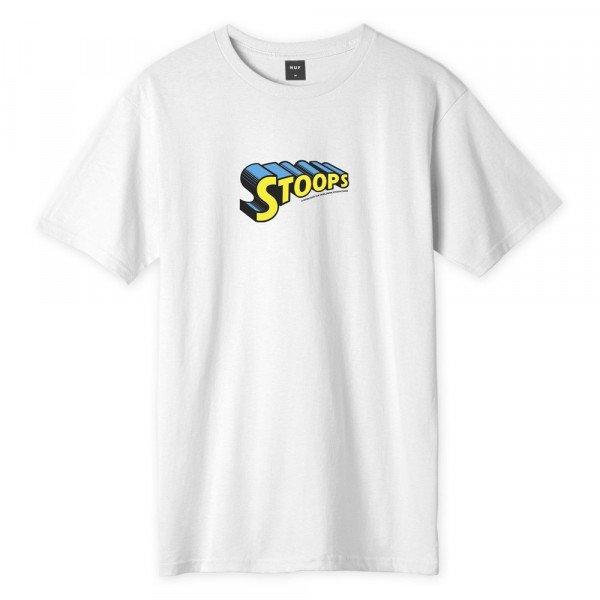 HUF T-SHIRT STOOPS MAN WHITE