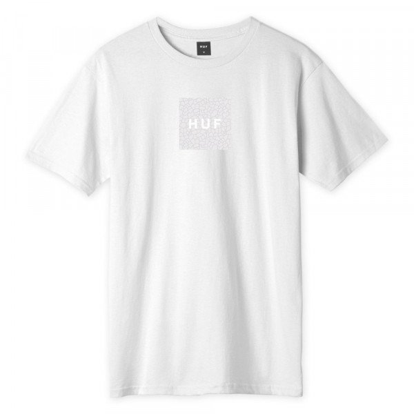 HUF T-SHIRT QUAKE BOX LOGO WHITE